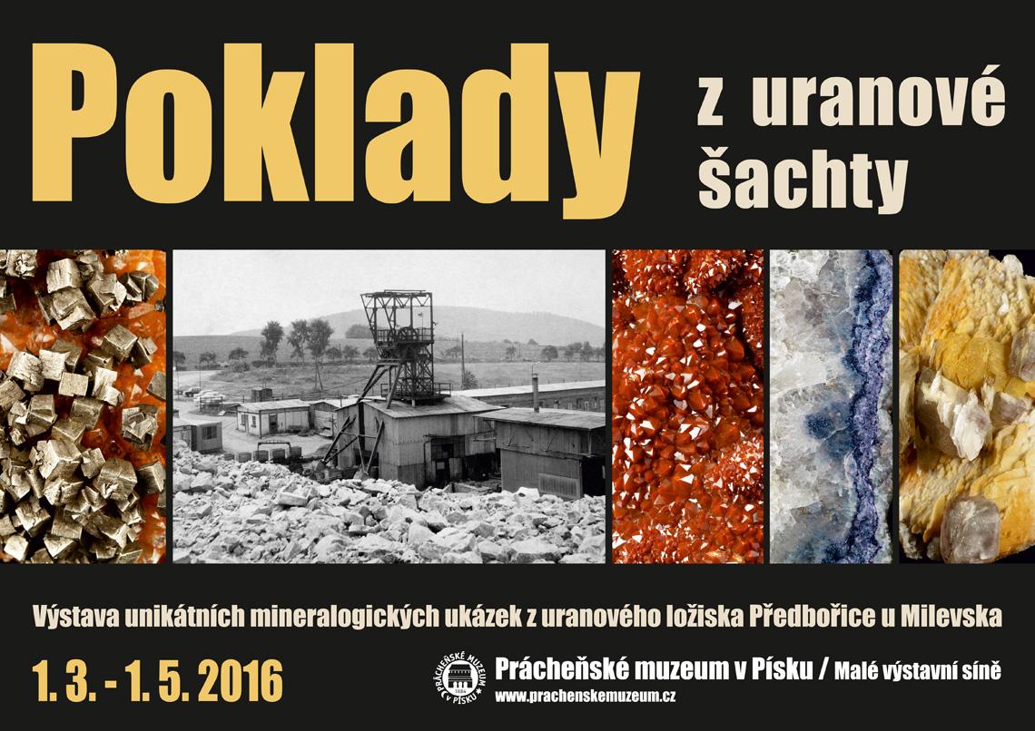 """Pozvánka na výstavu """"Poklady z uranové šachty"""""""